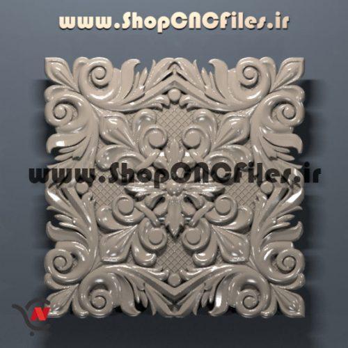 طرح سه بعدی دموراتیو سی ان سی چوب سنگ