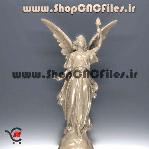 طرح رایگان سه بعدی مجسمه فرشته برای پرینتر سه بعدی سی ان سی پرینتر سه بعدی