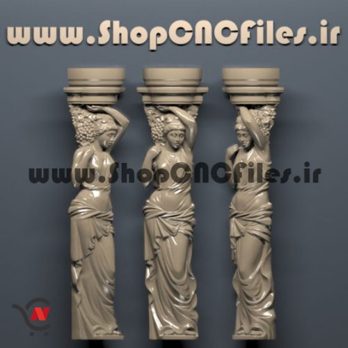 طرح سی ان سی چوب طرح سی ان سی سنگ طرح ستون سه بعدی سی ان سی چوب و سنگ