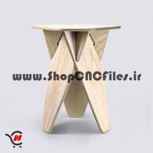طرح برش چهارپایه سی ان سی چوب و ام دی اف