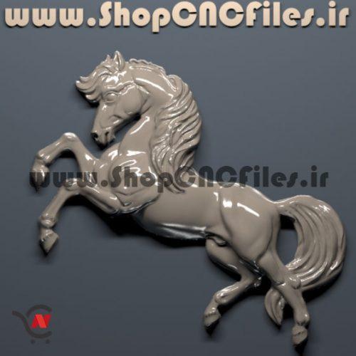 دانلود رایگان طرح سه بعدی نیم پیکره اسب سی ان سی چوب و سنگ