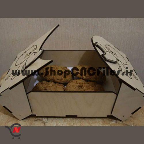 طرح برش لیزر جعبه باکس ولنتاین جعبه جواهر جعبه کادو باکس کادو